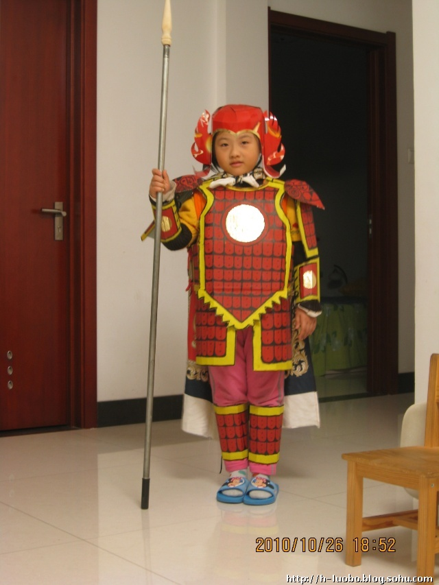 diy——幼儿园活动:古代武士时装秀