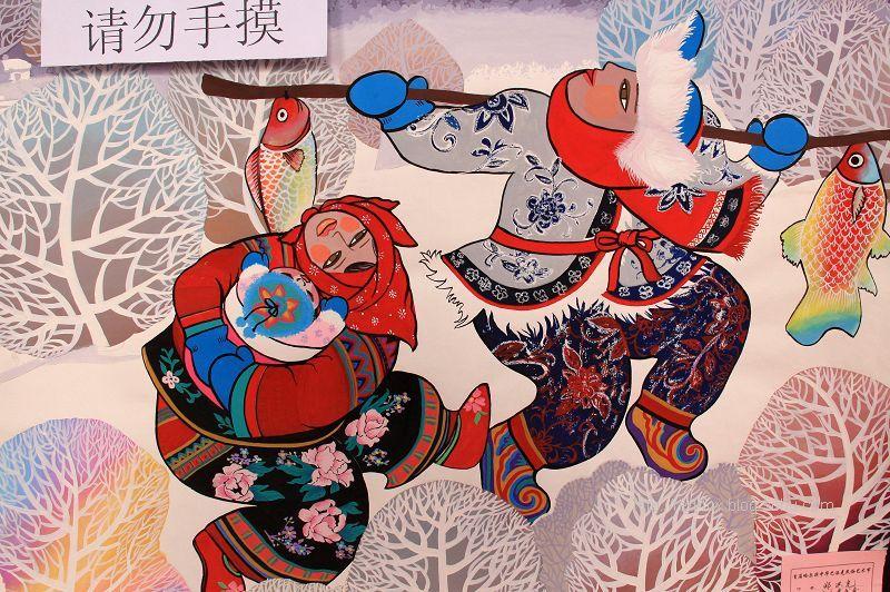 东北民俗手绘画