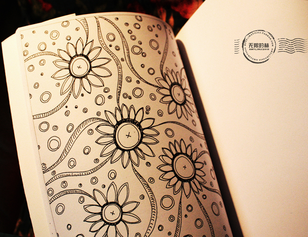 日记本上的手绘小画