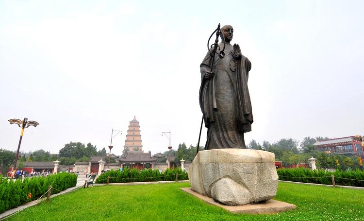 大雁塔位于西安大慈恩寺内,大慈恩寺是唐长安城内最著名,最