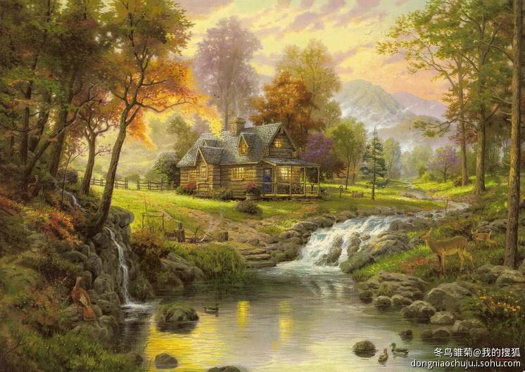 世界著名风景油画欣赏之托马斯作品