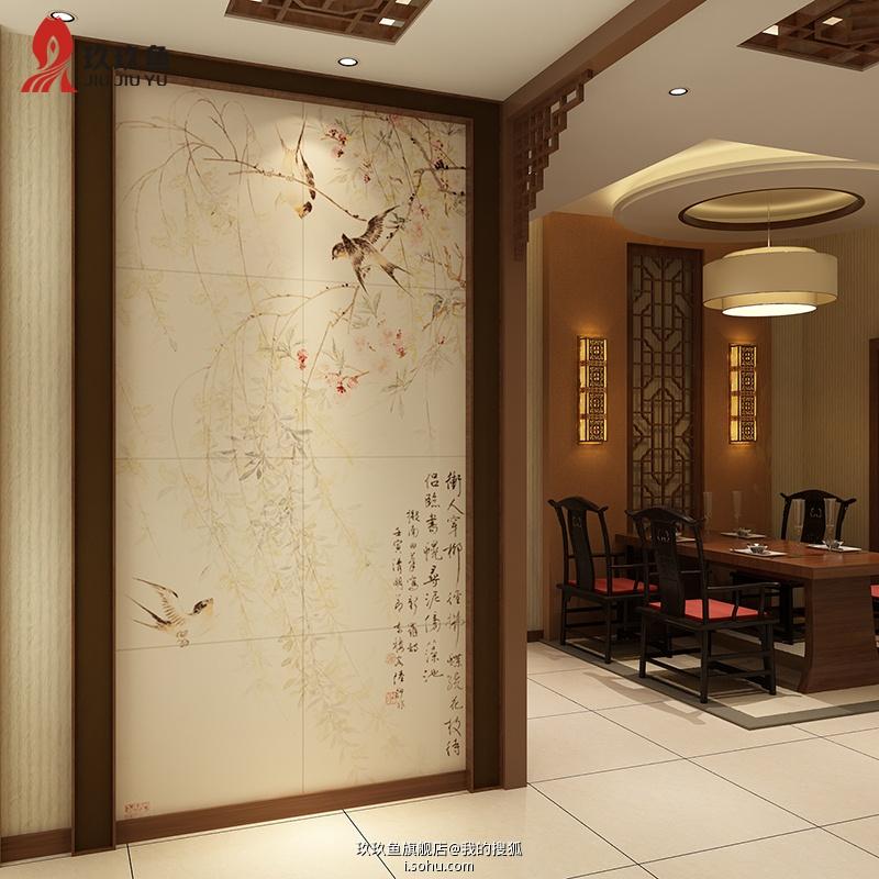 瓷砖背景墙玄关墙面装饰效果大全