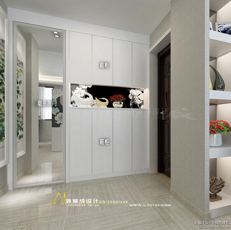 玄关鞋柜设计,2013玄关鞋柜效果图,鞋柜玄关设计图_点力图库