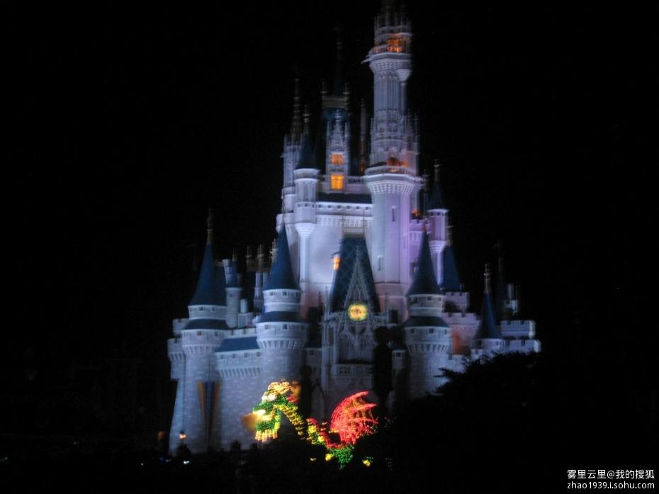 奥兰多迪士尼世界灰姑娘城堡_乐乐简笔画