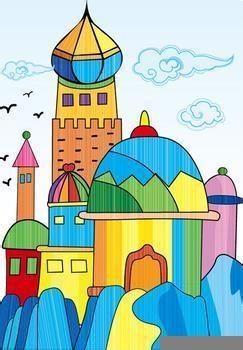 《美丽的城堡》线描稿