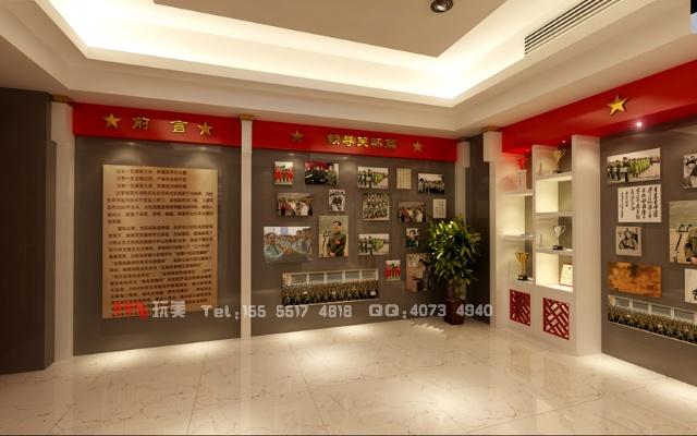 荣誉室 视角5 安徽省消防总队荣誉室设计 新徽式设计风格 高清图片