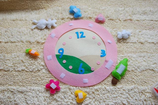 简单好做的儿童房钟表(女宝宝款)-狗旺旺的小狗窝