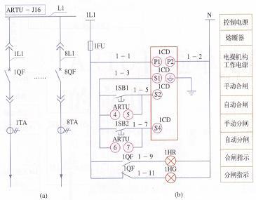 异地启停控制电动机电路实物图