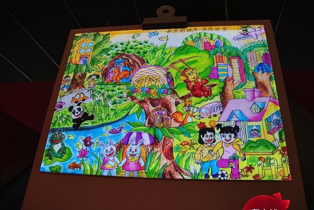 绿色生活绘画作品_儿童画画大全简单漂亮_绿色环保图片