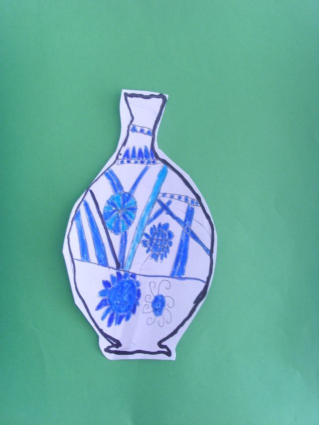 剪贴画:青花瓷