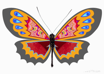 在ps中用鼠标画蝴蝶
