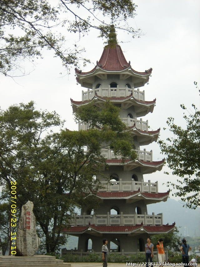 漳平市的东山塔和振文塔