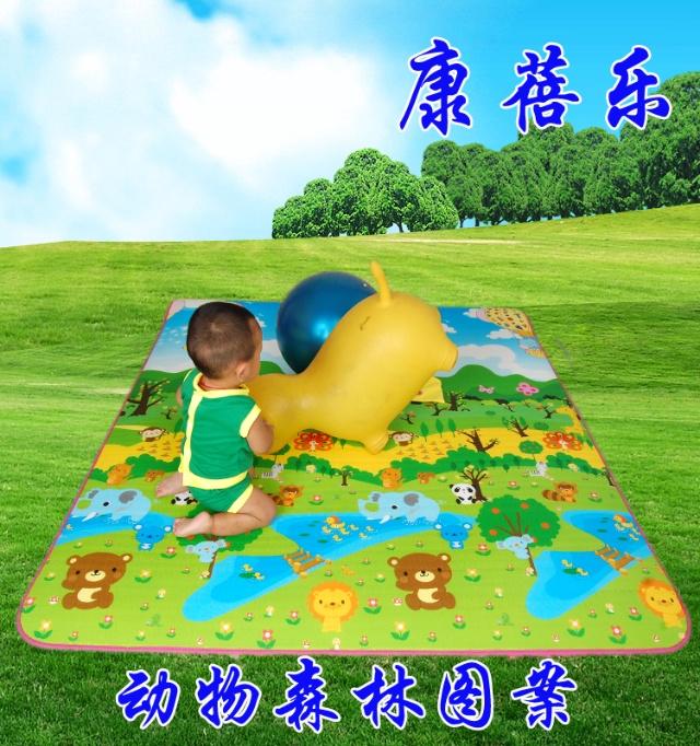 爬树时同龄俱乐部的妈妈们在讨论购买宝宝爬行垫的事情,就也在淘宝上