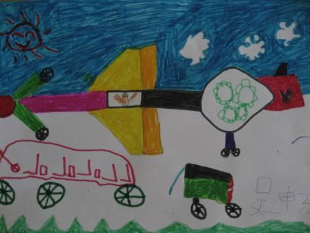 """幼儿园迎""""六.一""""的绘画作品"""