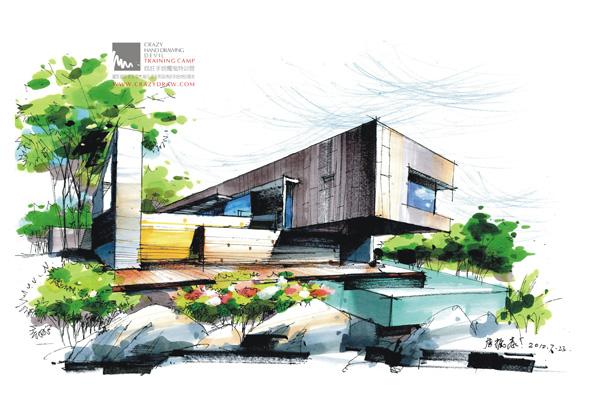 广州 建筑 手绘 徒手 表现 培训 班 建筑 环艺 手绘