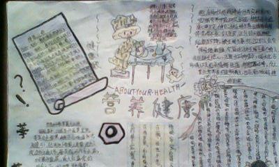 中国人民健康素养66条手抄报