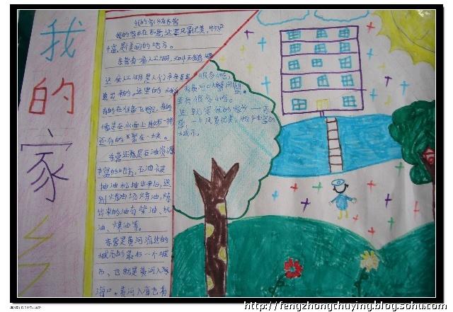 中国梦家乡美手抄报 关于家乡美的手抄报