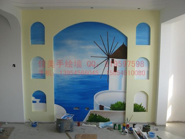烟台手绘墙 烟台墙体彩绘 学府西苑客户