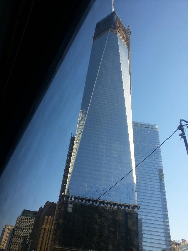 纽约世贸双塔原址正在兴建的高楼