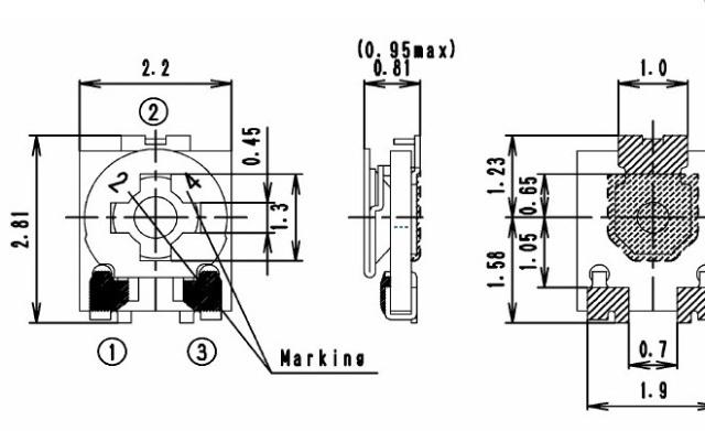 evm2nsx80b13(1k)2x2贴片电位器 evm2nsx80b13(1k)松下贴片可调电阻 e