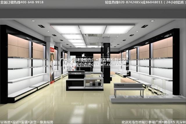 ███广州长艺货架展柜厂最新鞋店设计鞋柜装修风格女鞋店装