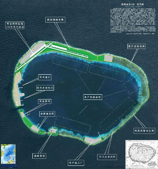 南沙美济岛位置图