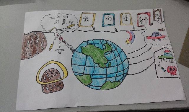 小学生科学幻想画8k小学生科学幻想画小学生科学  小学生科技手抄报图片