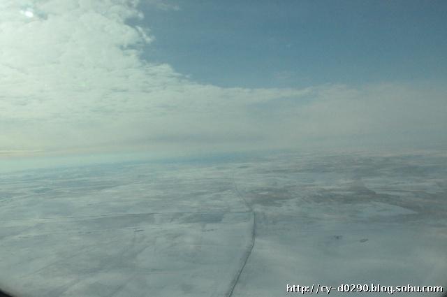 冰封千里:满洲里到呼和浩特航拍