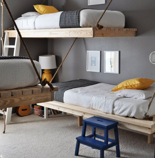 30张上下铺家居设计效果图展示儿童房上下铺家居装修设计