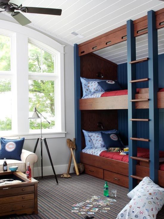 30张上下铺家居设计效果图展示儿童房上下铺家居装修设计 .