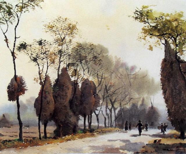 黄铁山水彩画作品欣赏