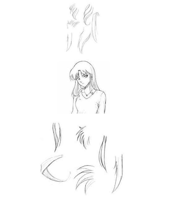 卡通人物头发画法