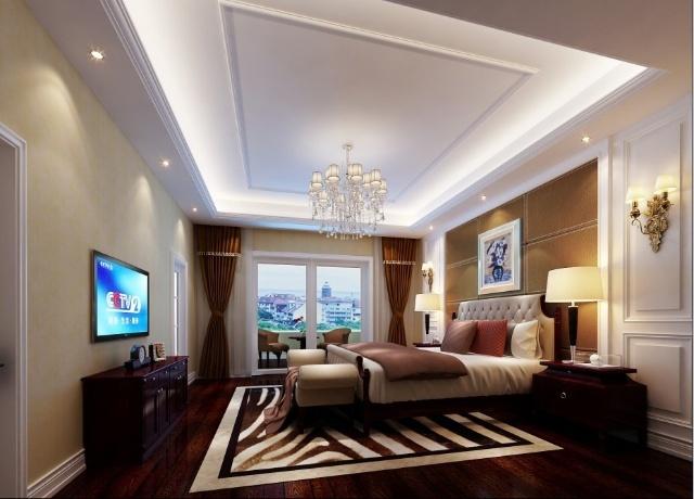 栋600平米别墅打造中式和欧式完美结合的风格 实创装饰装修