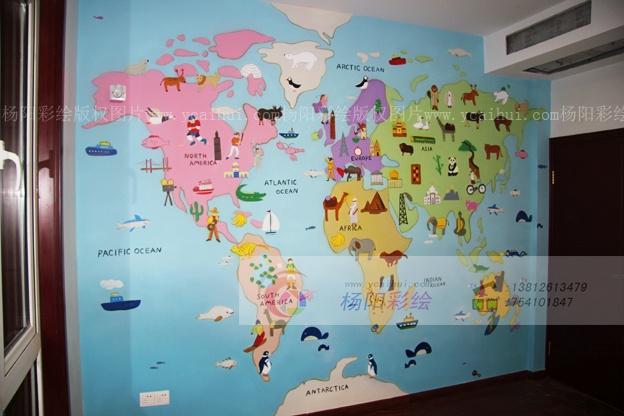 世界各国标志性建筑_卧室世界地图装饰-儿童房卡通壁画-苏州手绘墙-搜狐博客