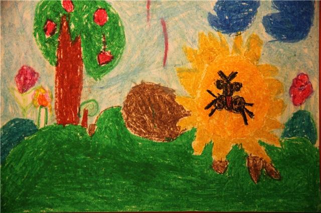 天天在学前班的美术作品图片