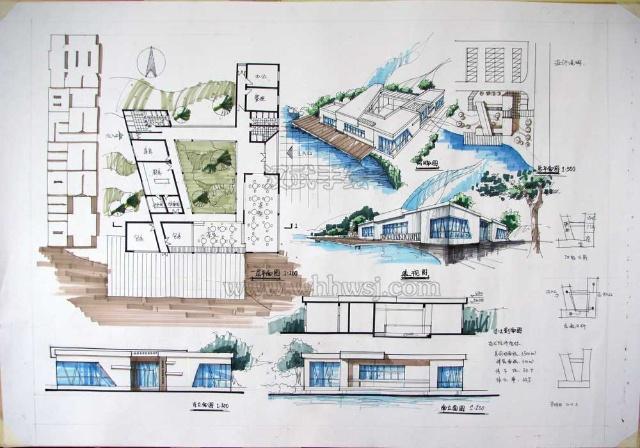 快题展厅设计图