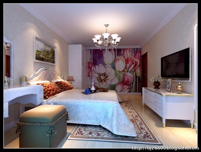 客厅装修效果图   本案主题的风格是欧式奢华风格,客厅装饰镜