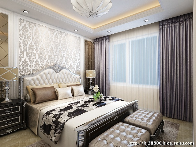 次卧室新古典风格装修效果图