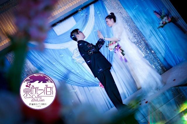 山东商会大厦 一建青心 蓝色主题婚礼