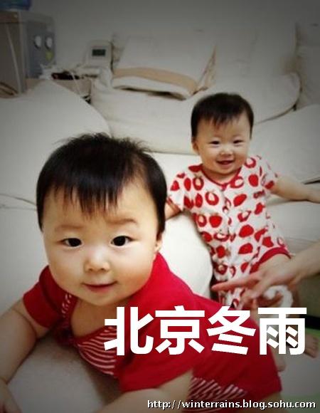 央视美女主播陈蓓蓓两岁双胞胎女儿可爱照(组图)