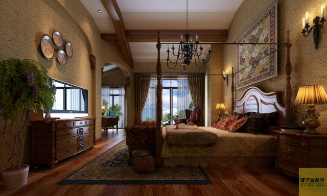 亚风格联排别墅装修设计实景VS效果图 休闲度假村格调的豪华美宅