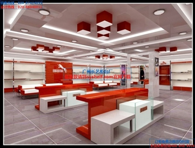 ███鞋店收银台丨鞋店中岛柜丨鞋店货柜丨鞋店展示柜图片███