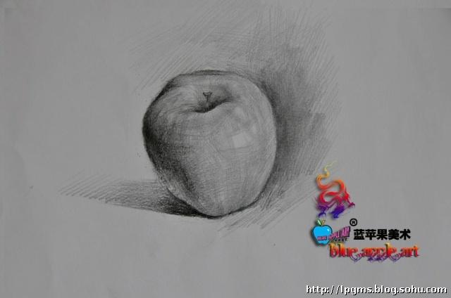 素描苹果怎么画 素描静物苹果画法图片
