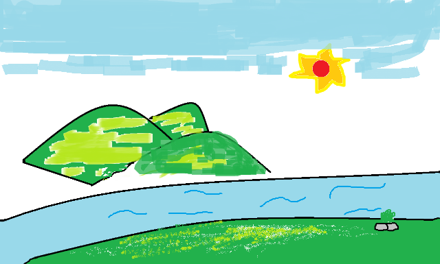 小学铅笔画风景