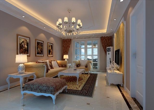 实创装饰--兴政家园120平米简欧风格装修效果图