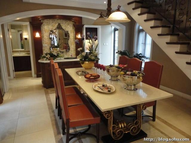 别墅 261㎡ 客厅装修效果图 欧美风情 260平米别墅装修设计