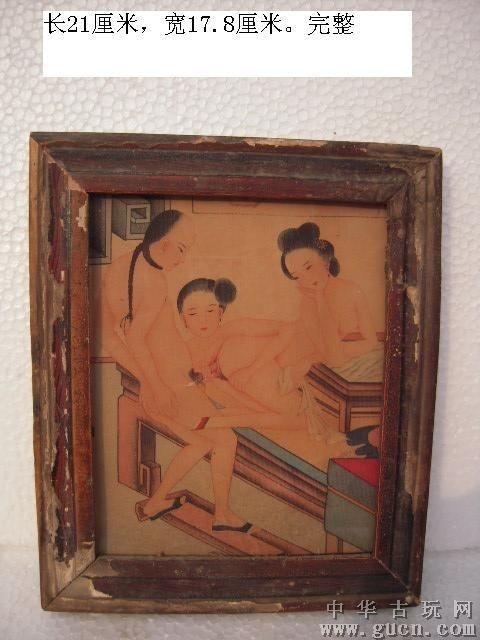 古代家具彩绘图