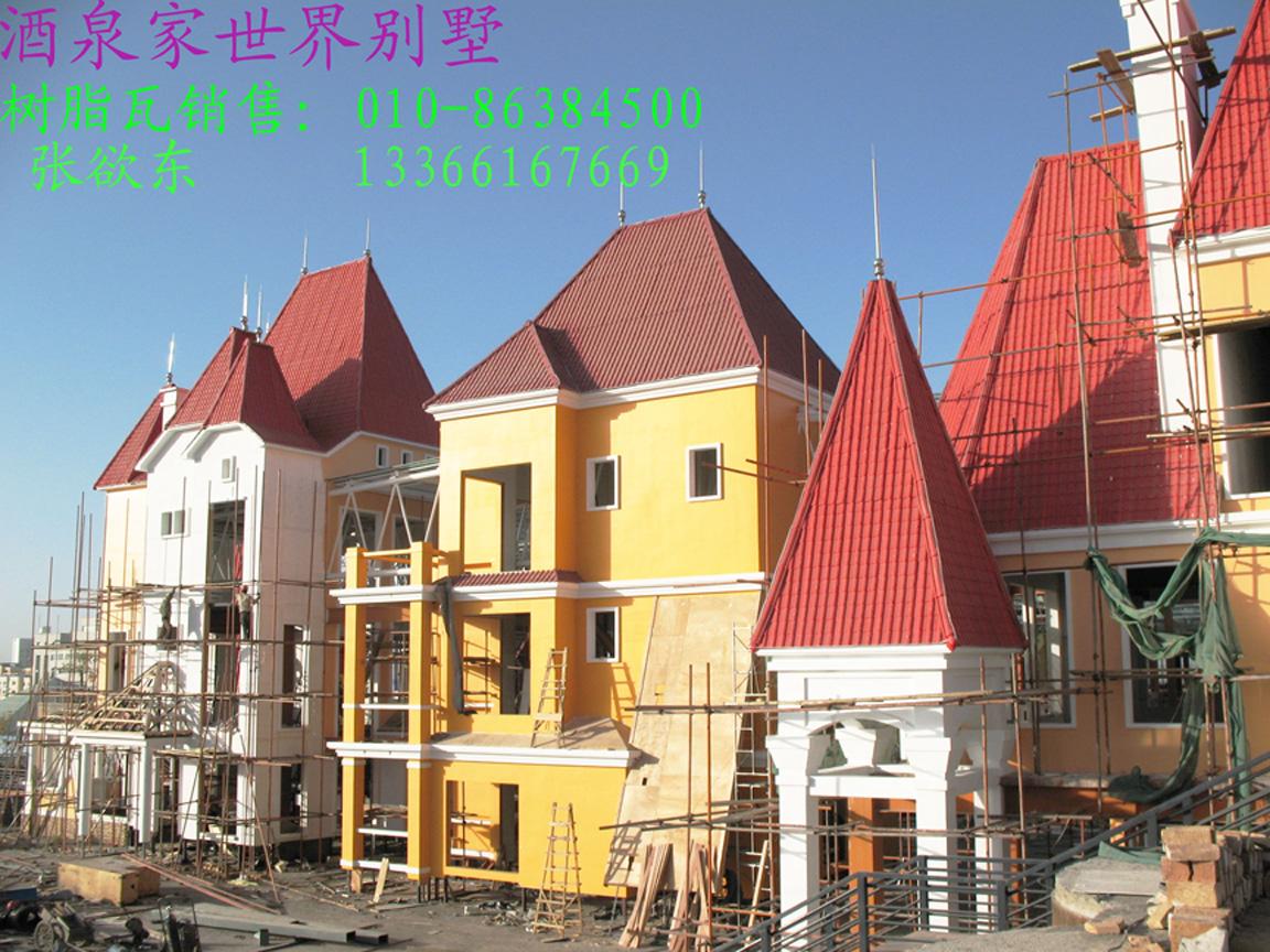 一层坡屋面别墅欧式模型